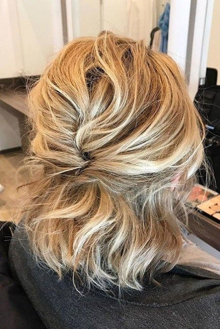 Hairstyles For Frizzy Hair - Half updo