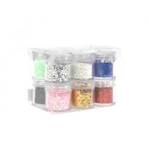 Rainbow Nail Glitters 12 pk