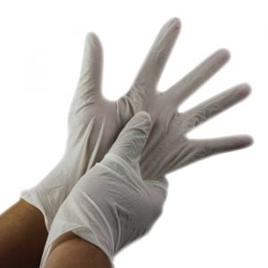 Disposable Latex Gloves 100 pk Small