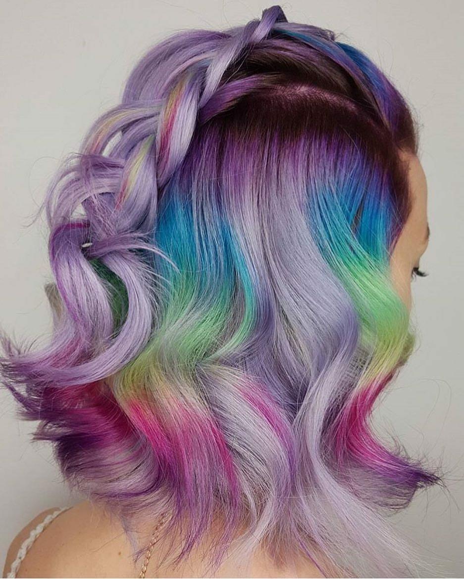 unicorn hair colour