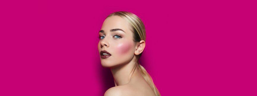 pink blush makeup